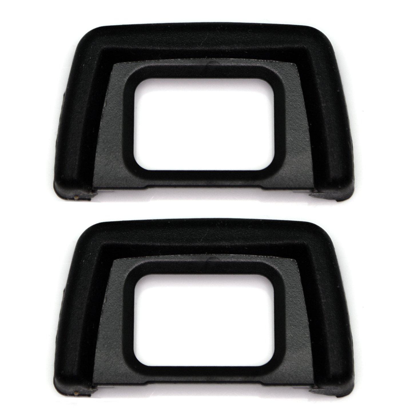 [PACK of 2] Replacement DK-24 for Nikon Rubber Eyecup D5000 D5100 D3000 D31004 5minTECH