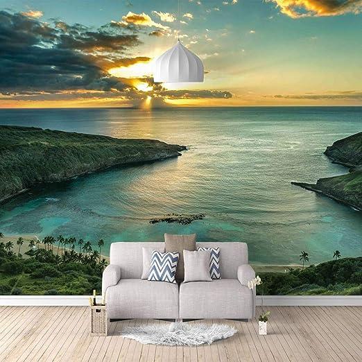 Papel Pintado Fotomural Foto de la bahía Mural de seda Fondo ...