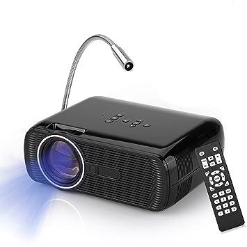 Mini Proyector, YOKKAO BL-80 Proyector Portátil LED 1000 Lúmenes 800x480p Disfruta del Cine en Casa Home Cinema Proyector Digital que soporta entrada ...