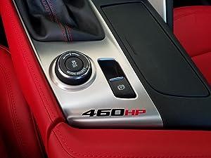 ZIC Corvette C7 460 HP Vinyl Decals - Red and Black