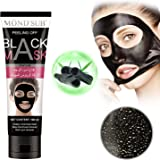 Black Mask Black Charcoal Peel off Blackhead Remover Mask Deep Purifying Pore Cleansing Suction Mud Mask for Face &Nose Acne Treatment
