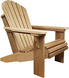 Premium Western Red Cedar Wood Adirondack Chair (Unfinished)