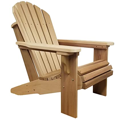 Attrayant Amazon.com : Oregon Patio Works Premium Western Red Cedar Wood Adirondack  Chair (Unfinished) : Garden U0026 Outdoor