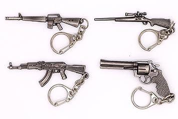 Avec Joie Mini Modelo de pistola de disparo llavero de metal ...