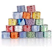 Niome 100pcs DIY Self-adhesive Glitter Washi Paper Tape Sticker Decoration