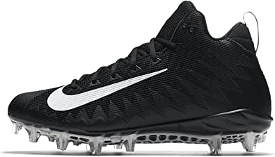 Nike Men's Alpha Menace Pro Mid Football Cleat Black/White Size 10 M US