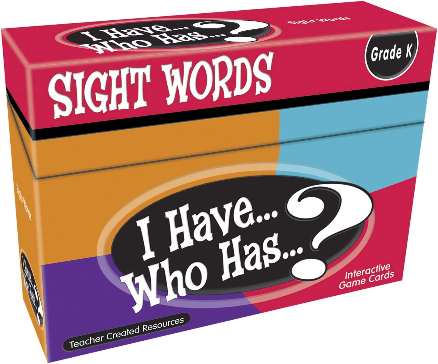 Teacher Created Resources I Have. Who Has.? Sight Words Grade K (7868), Multicolor : Office Products
