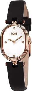 Burgi Womens Quartz Watch, Analog Display and Leather Strap BUR229BK
