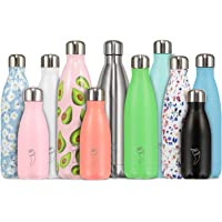 Chilly's Bottles | Leak-Proof, No Sweating | BPA-Free Stainless Steel | Reusable Water Bottle | Double Walled Vacuum Insulated | Keeps Drinks Cold for 24+ Hrs, Hot for 12 Hrs