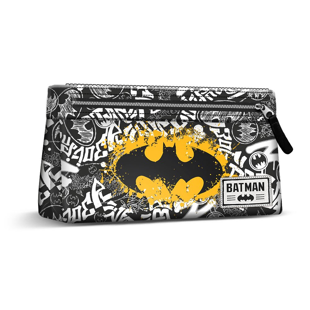 Batman Tagsignal-Flach Federmäppchen Astuccio, Grigio Karactermania 37594