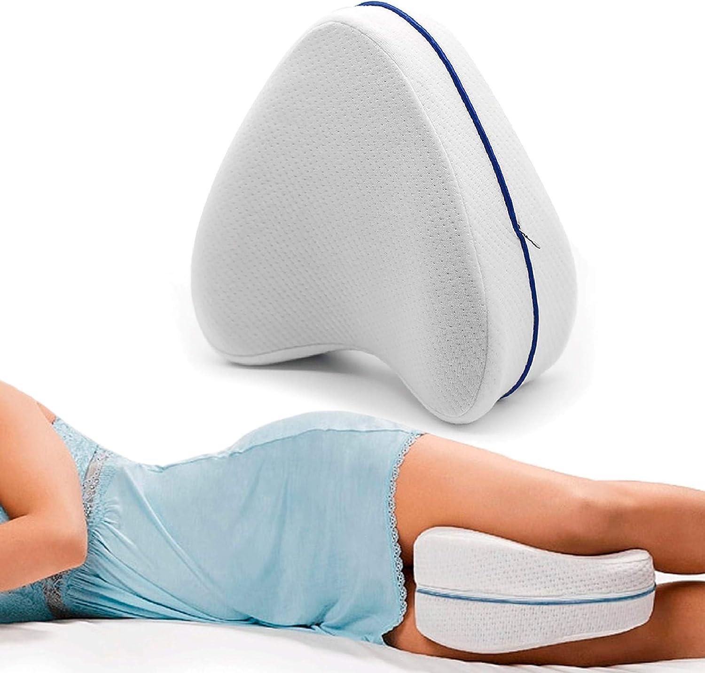 MovilCom® Almohada Ortopédica para Pierna y Rodilla   Espuma con Memoria   Almohada piernas Dormir Alivia el Dolor de Espalda Cadera y Articulaciones   Cojin Embarazada   Almohada para Dormir de Lado