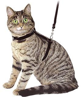 Kerbl Arnés para gatos con correa 120 cm, negro, de ante