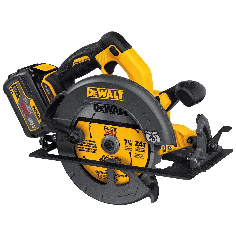 Dewalt dcs575t1 flexvolt 60v max brushless circular saw with brake dewalt dcs575t1 flexvolt 60v max brushless circular saw with brake and 1 battery kit 7 14 amazon greentooth Gallery