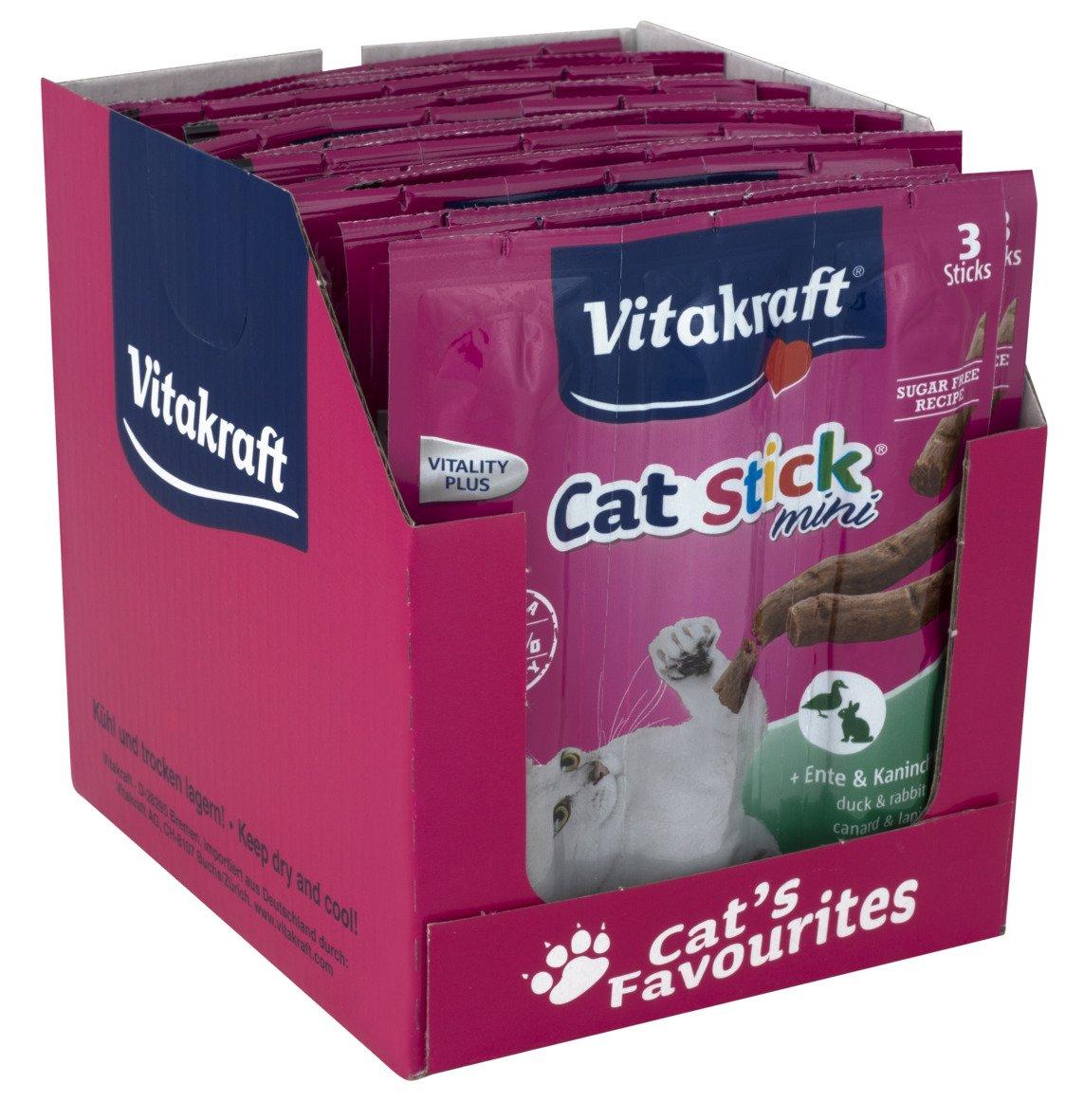 Amazon.com : Vitakraft Cat-stick Mini - 20 Pack (Duck) : Pet Snack Treats : Pet Supplies