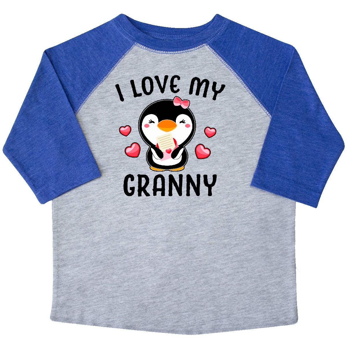inktastic I Love My Granny with Cute Penguin and Hearts Toddler T-Shirt