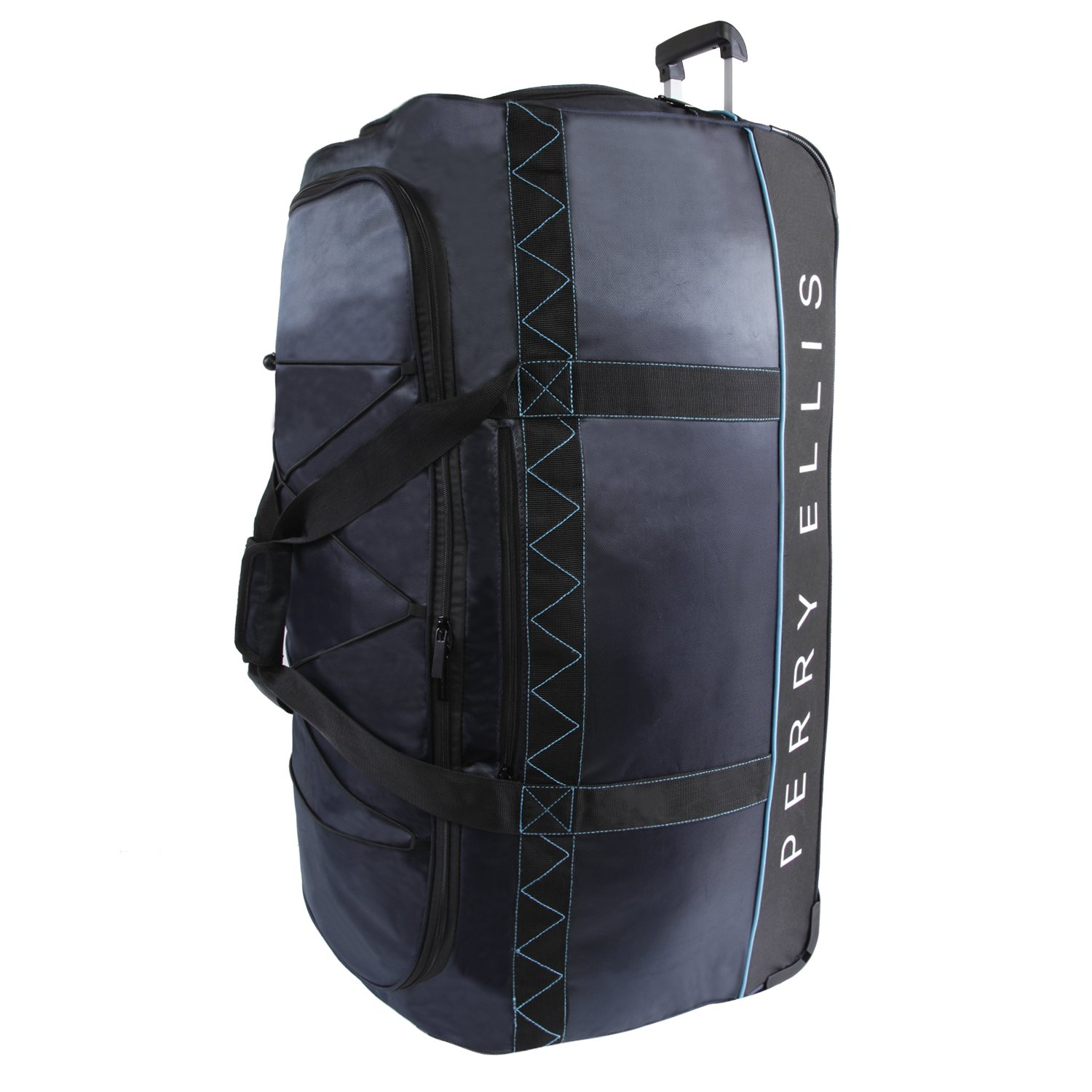 Perry Ellis Mens Extra Large 35 Rolling Bag-A335 Duffel Bag Navy//Blue One Size