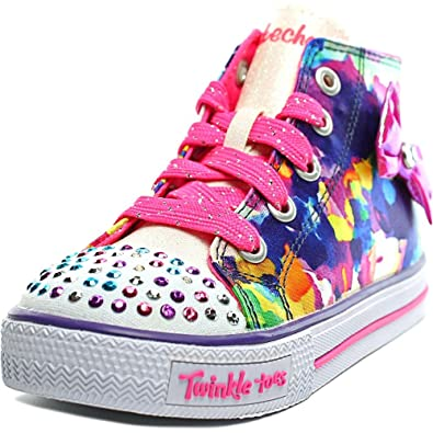 872c99b6843f Skechers Girls High Top Trainers (Sizes 5-9) LED Light Up Shoes Twinkle Toes  Shuffles 'Artsy Up': Amazon.co.uk: Shoes & Bags