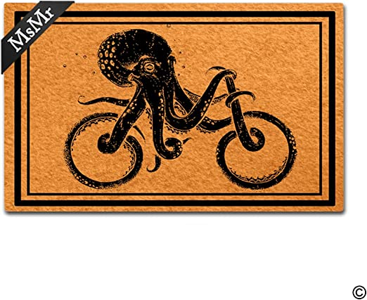 MsMr Felpudo Entrada Alfombra Pulpo Decorativa para Bicicleta ...