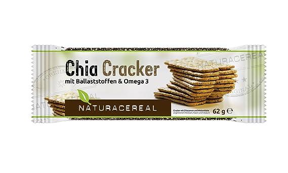 Chia Cracker Naturacereal - Galletas de Chia con fibras & Omega 3 ...