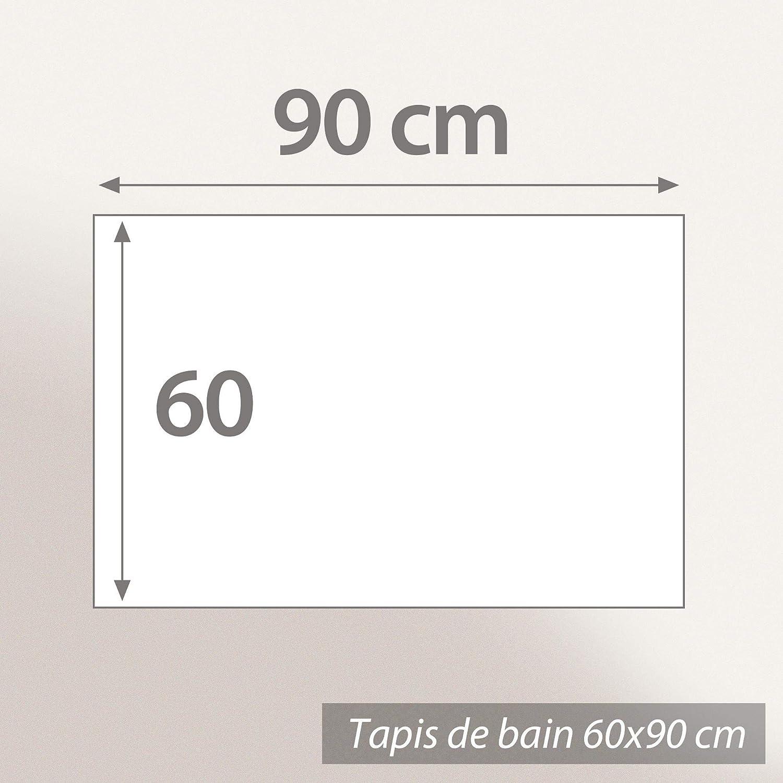 Linnea Tapis de Bain antid/érapant 60x90 cm Velours Prestige Gris Argent