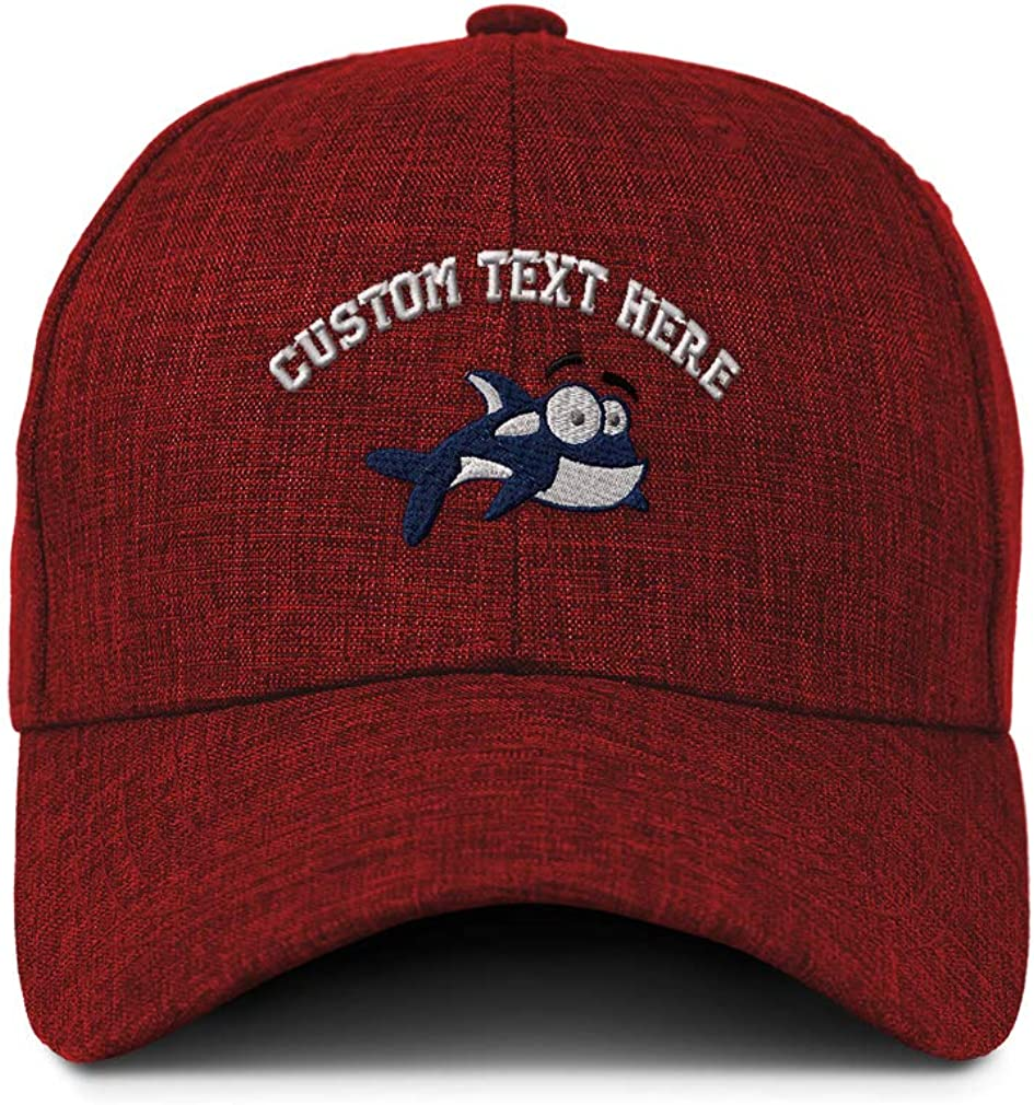 Custom Baseball Cap Cartoon Killer Whale Orca Embroidery Acrylic Strap Closure