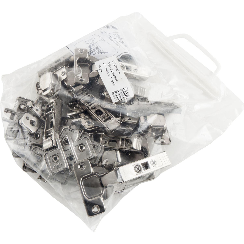 2 St/ück inkl BLUM Clip top Mini-Scharnier Montageplatten M/öbelband; Eckanschlag Schrauben und Montageanleitung