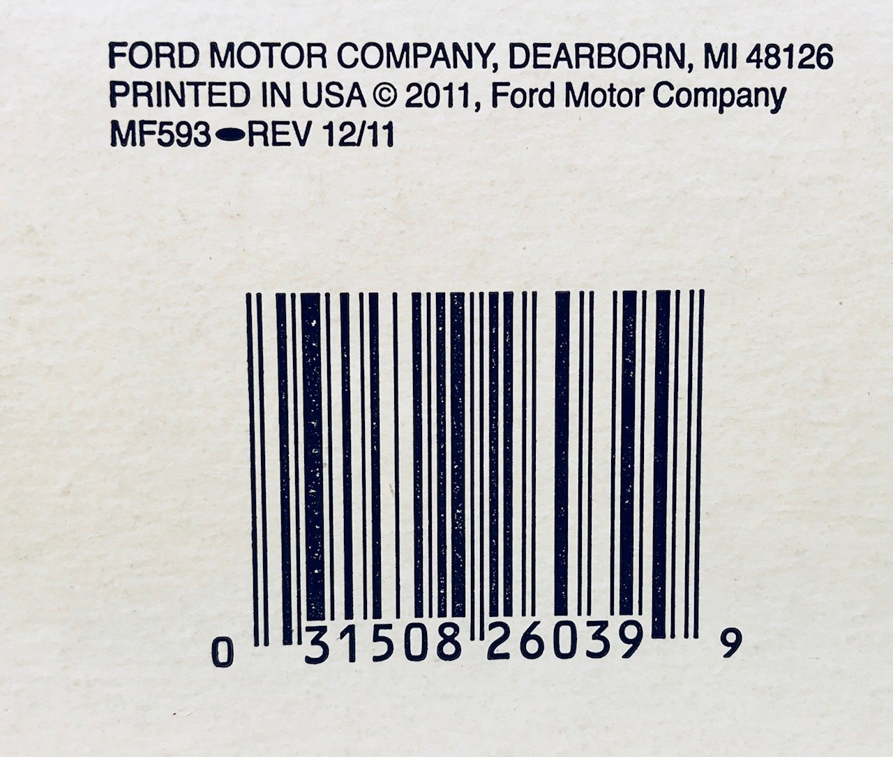 Motorcraft Fg986b Fuel Filter Automotive 2011 Ford Mustang Removal