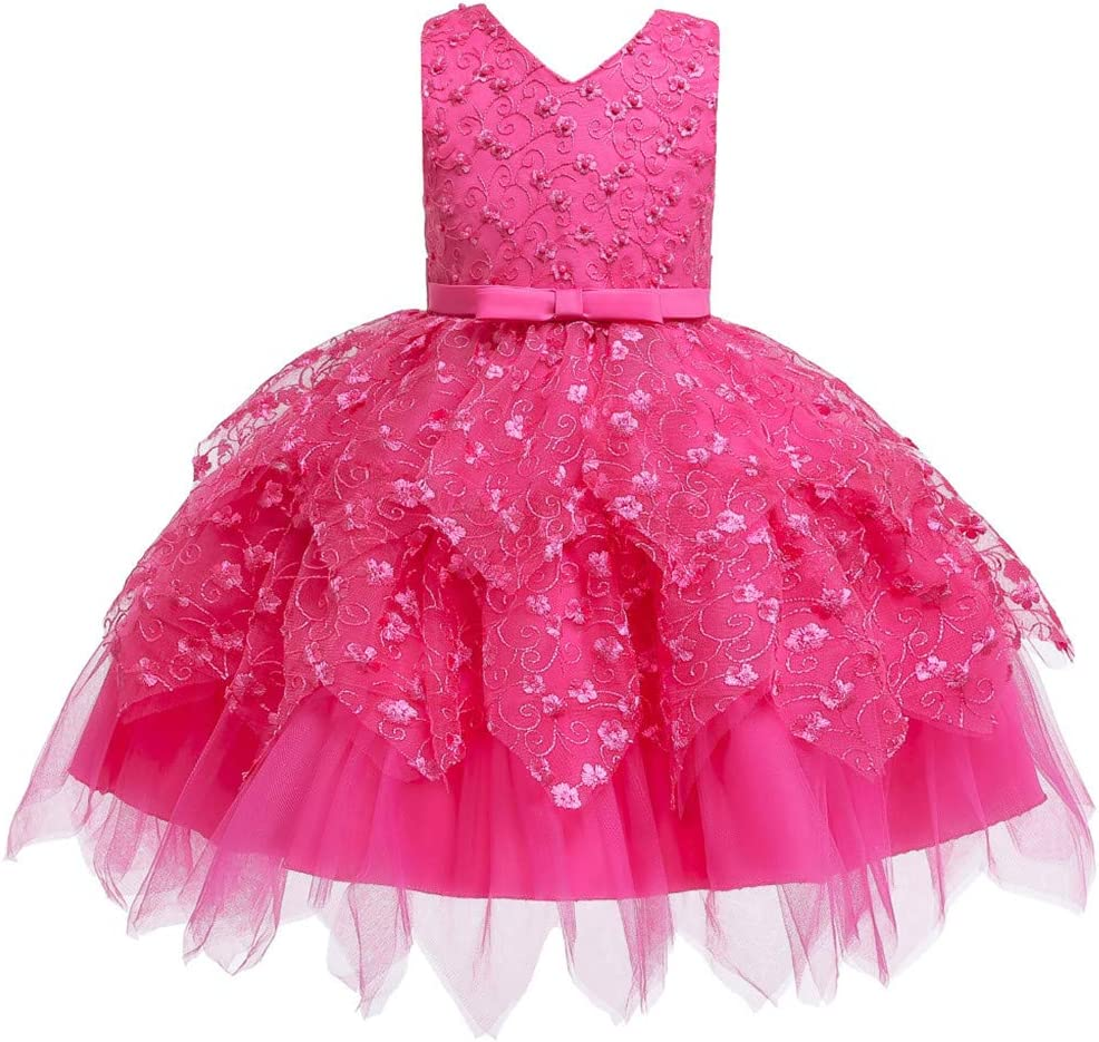 New Kids Girls Princess Sundress Girl Tutu Rainbow Veil Skirt Party Kid Costume