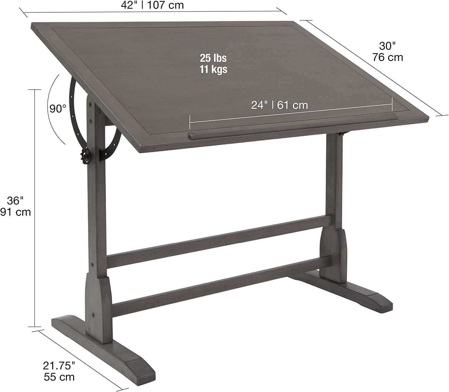 Craft & Hobby Essentials 62000 - Mesa de Dibujo (Madera de 106,7 ...