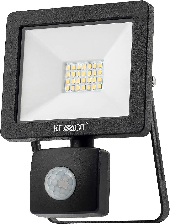 Foco LED para exteriores de 20 W con sensor de movimiento y ...