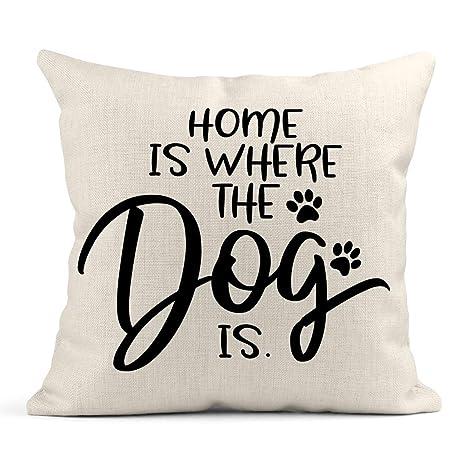 Cojín Animal Home es Donde el Perro Dice Divertido Gato ...