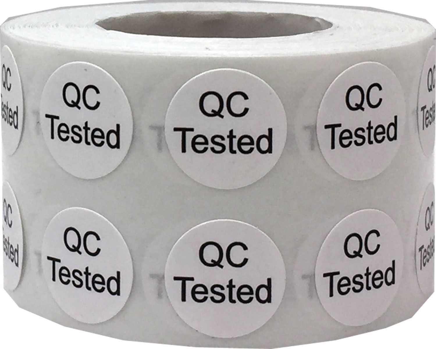 Amazon com quality control qc tested stickers 1 2 inch round 1000 labels on a roll office products