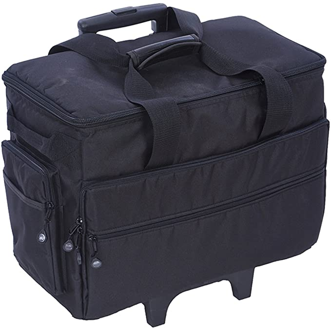 Amazon Bluefig Sewing And Embroidery Machine Trolley Case Simple Bernina Sewing Machine Totes On Wheels