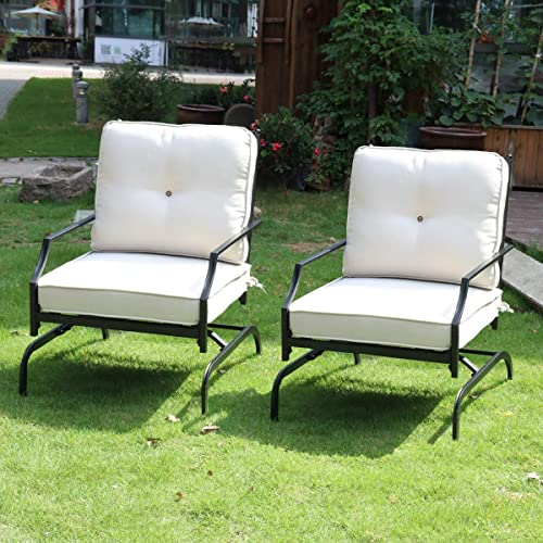 Rocking Patio Chairs Outdoor Set of 2