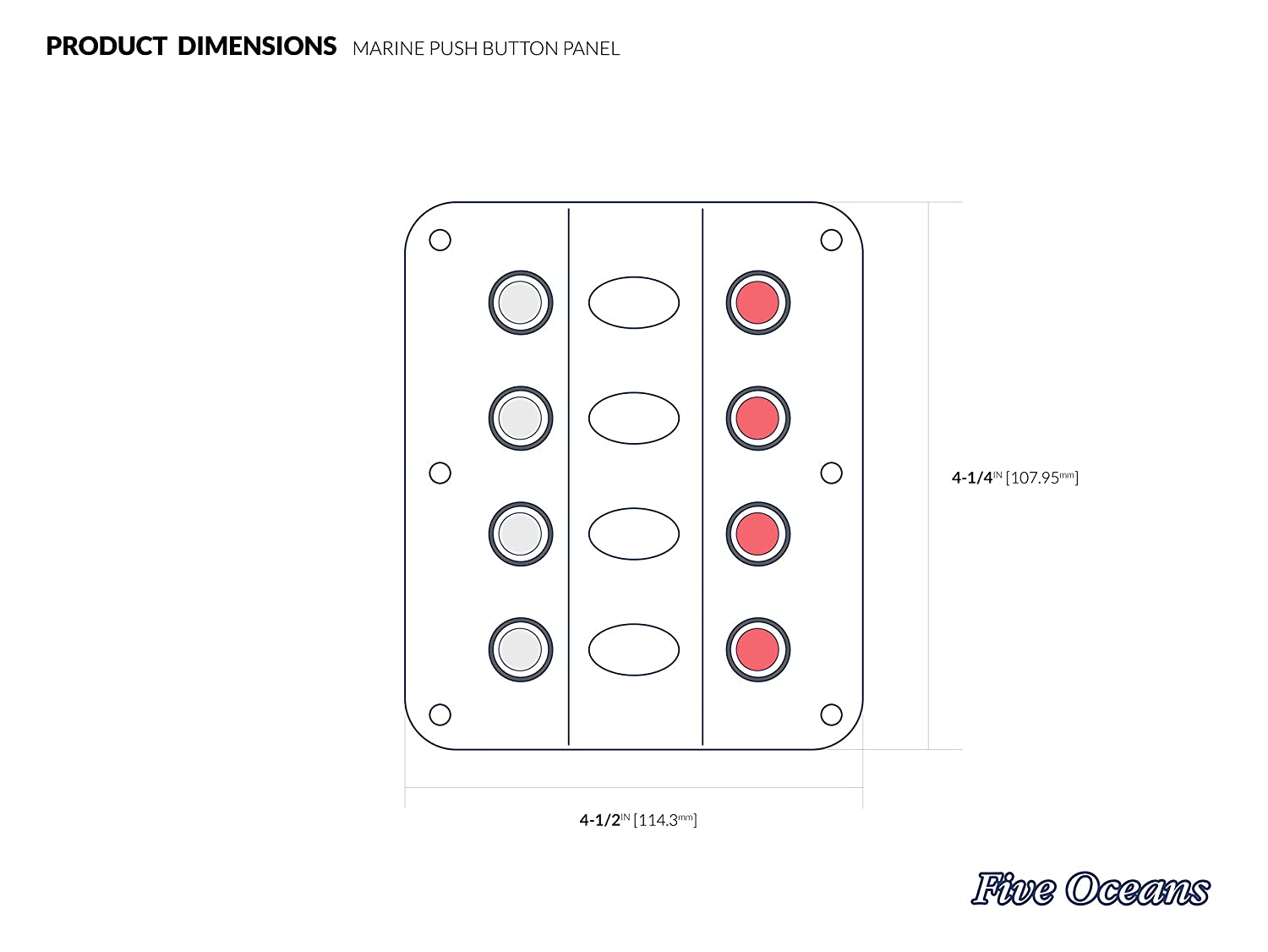 Switch Panels 4 Gang Wave Design Panel With Circuit Qm Series Wiring Diagrams Breakers 12v 1 2 X 1133x107mm Bc 3736 Sports Outdoors