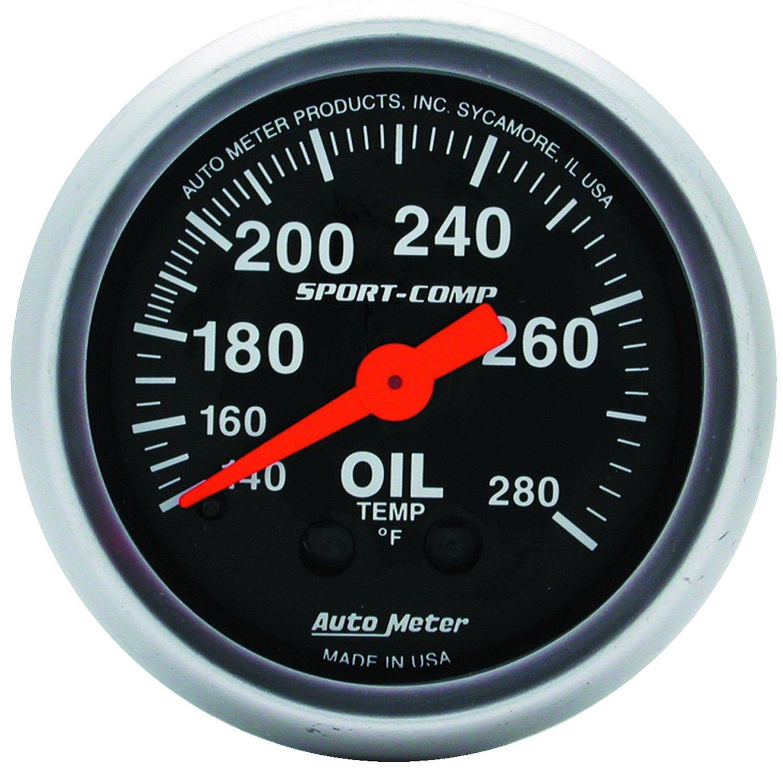 Auto Meter 3341 Sport-Comp Mechanical Oil Temperature Gauge