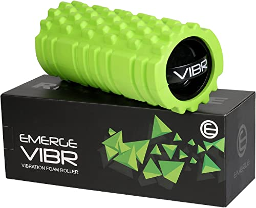Emerge Vibrating Foam Roller High Density 3 Speed Vibration for Muscle Recovery – Fully Rechargeable Electric Foam Roller – Deep Tissue Massager for Sports Massage Therapy