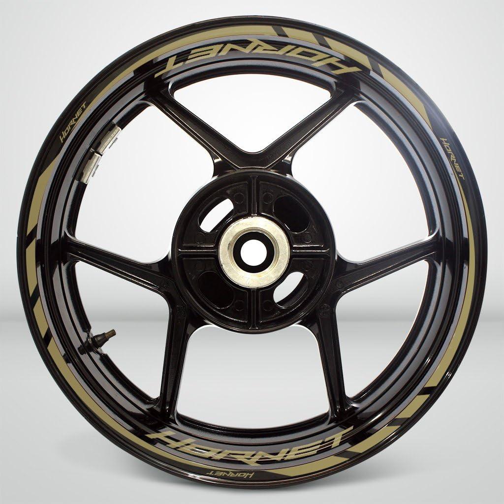 Or Mat Jante de moto d/écalcomanies autocollant accessoire pour Honda Hornet