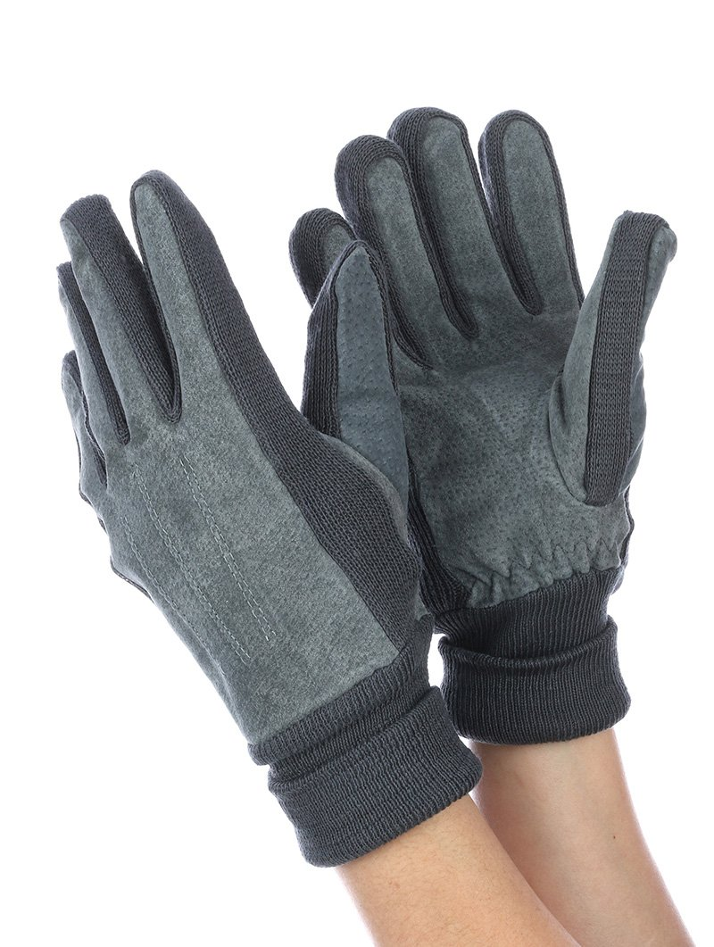 RI001 FLEECE LAYERED SUEDE KNITTED WOMENS GLOVES GENERAL MERCHANDISE
