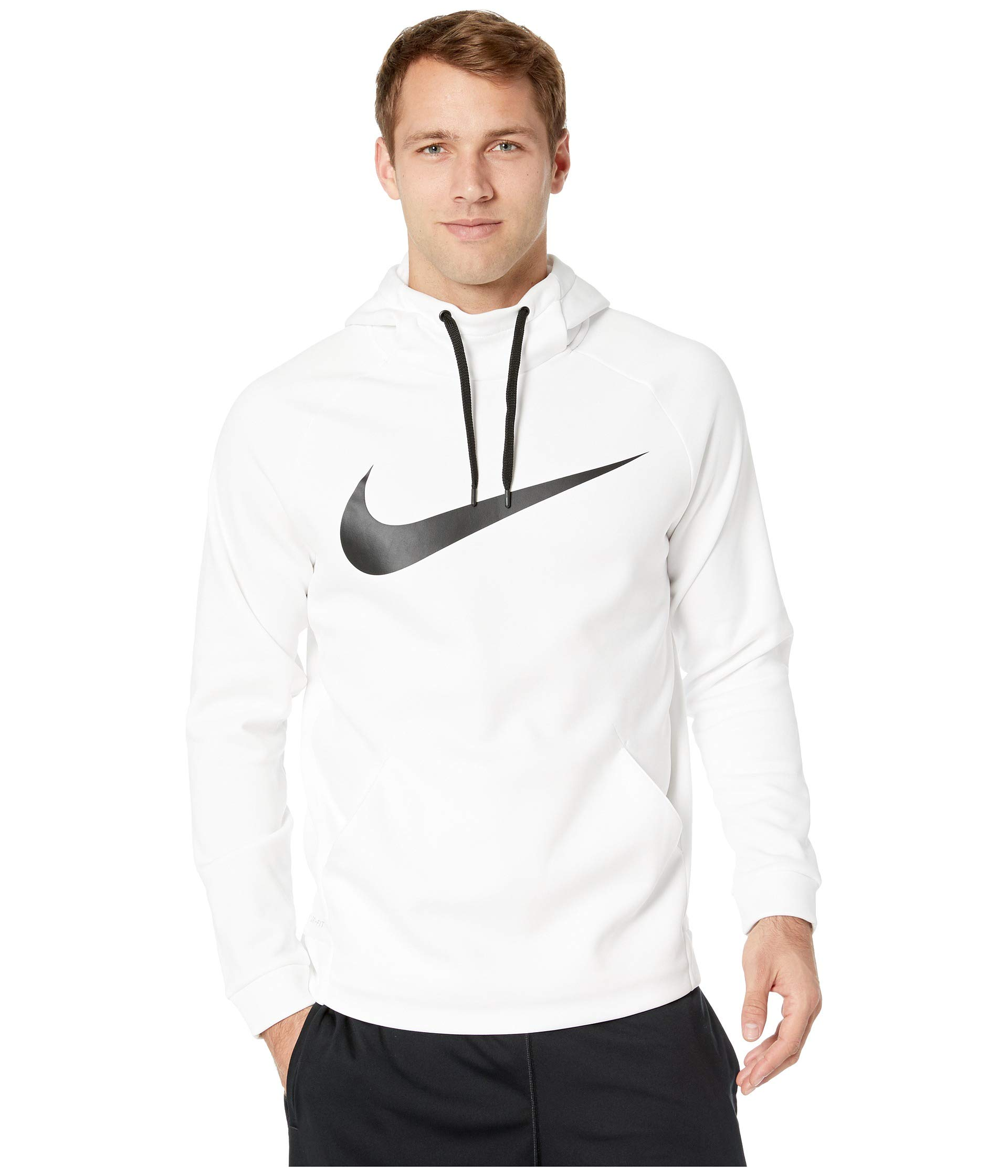 Nike Men's Therma Swoosh Training Hoodie White/Black Size X-Large by Nike