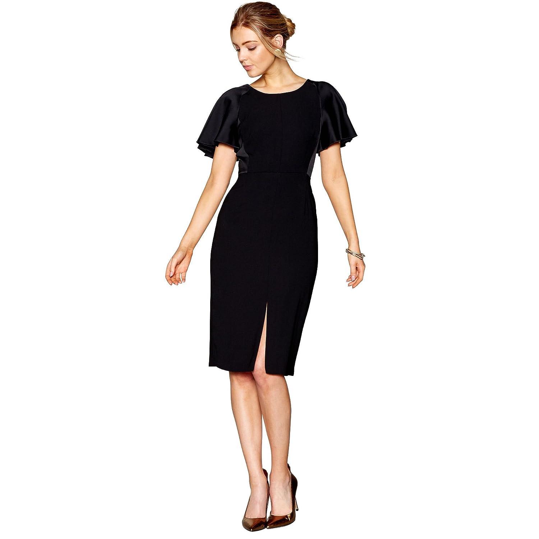 J by Jasper Conran Womens Black Midi Shift Dress 18: J by Jasper ...