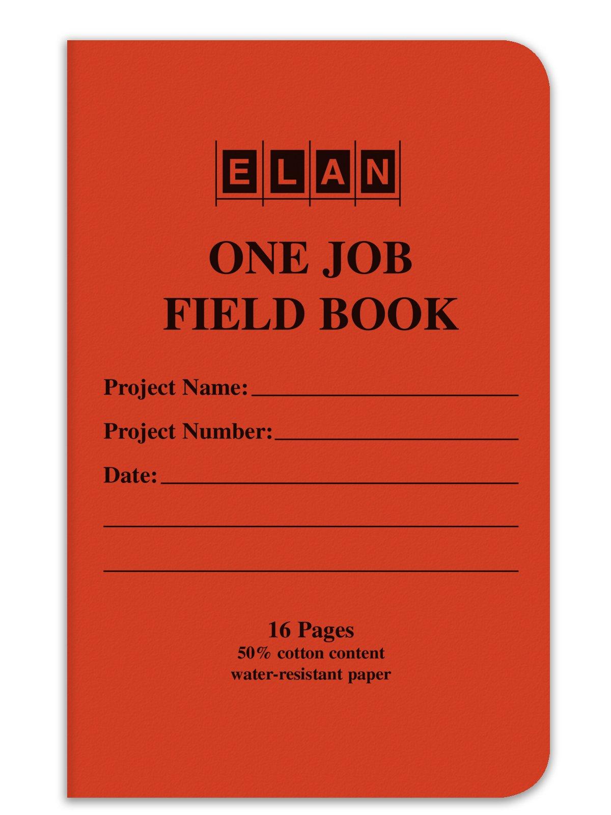 Elan Publishing Company One-Job Saddle Stitched Field Surveying Book 4 ⅝ x 7 Orange Stiff Cover (Pack of 24)