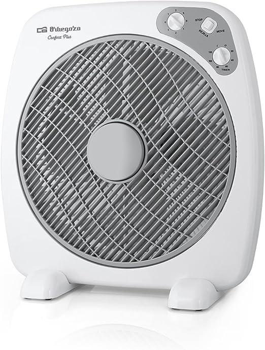 Orbegozo BF 0140 Ventilador Box Fan con 3 velocidades, difusor rotativo, función temporizador, tamaño aspas 40 cm, 60 W, Negro: Amazon.es: Hogar