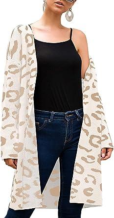 Womens Open Front Drape Long Sleeve Irregular Hem Sweater Cardigan Coat with Pockets