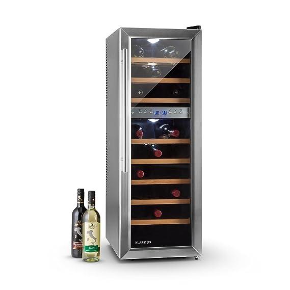 Klarstein Reserva 27D - Nevera para vinos, Nevera para bebidas, 27 ...