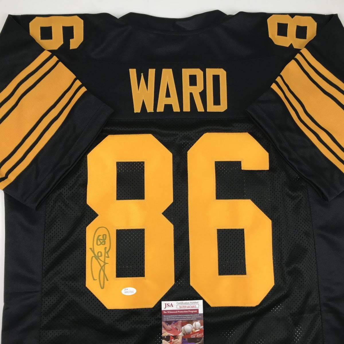 5850ee488 Autographed signed hines ward pittsburgh color rush football jersey jsa coa  at amazons sports collectibles store