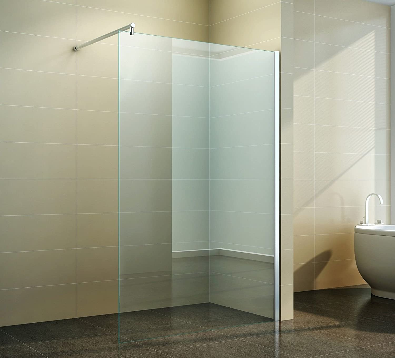 Walk in Duschabtrennung   Klarglas   Duschwand   Dusche Glas ...   {Duschabtrennung glas walk in 76}