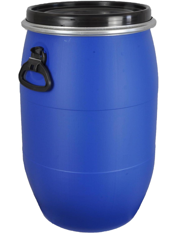 2 x 70 Liter weiß Kunststofffass Deckelfass Drehdeckelfass Futtertonne NEUWARE!