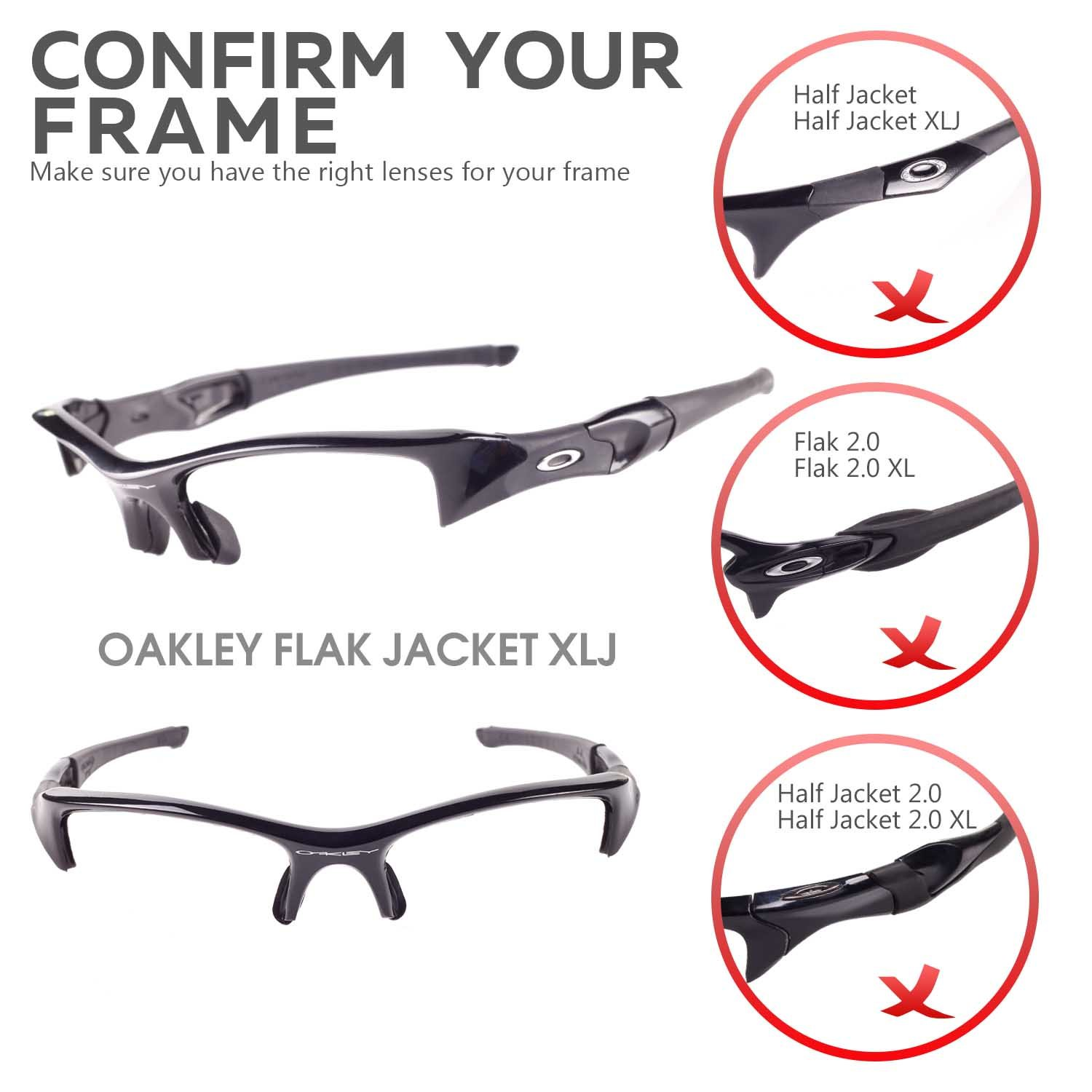 e69721d0009 New Walleva Polarized Black + Titanium Lenses For Oakley Flak Jacket XLJ at  Amazon Men s Clothing store  Sports Fan Shot Glasses