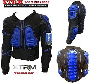 Dirt PITBIKE Schutz Jacke mit R/ückenschutz Motorrad R/üstung XTRM Edge Kinder Motorradjacke f/ür Motocross Vollk/örper R/üstungsschutz Enduro ATV Off-Road K/örperpanzer mit Protektoren